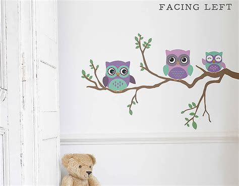 childrens wall sticker children s owl wall sticker contemporary wall stickers