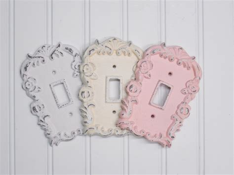 shabby chic switch plate light switch cover shabby chic light switch by theshabbystore