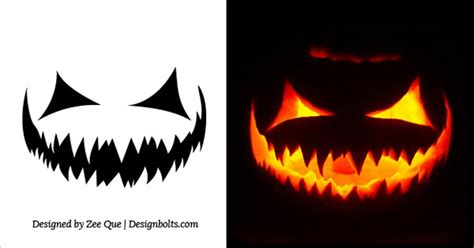 Scary Pumpkin Template by 20 Free Scary Pumpkin Carving Stencils Faces