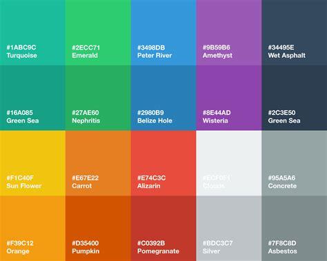 ui design background color flat ui color palette color swatches pinterest flat
