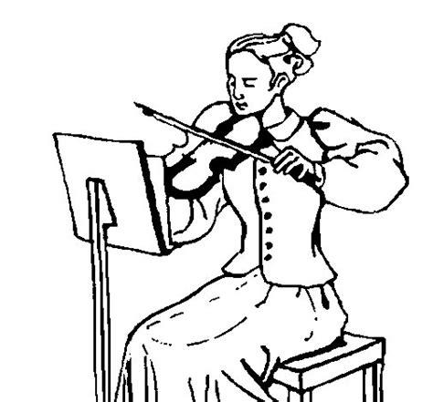 imagenes para pintar musica dibujo de dama violinista para colorear dibujos net