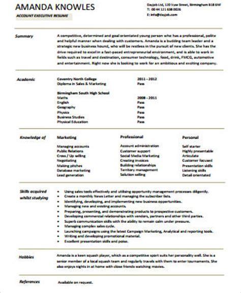 resume format for senior accounts executive 8 sle senior executive resumes sle templates
