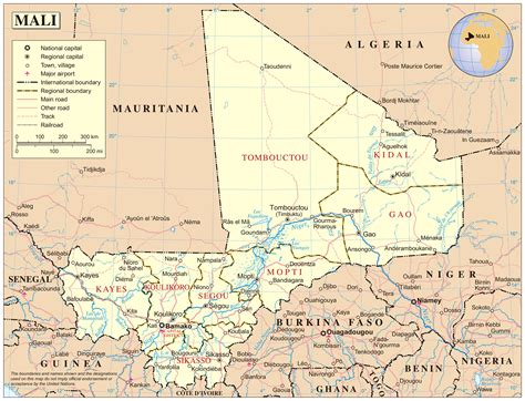 political map of mali detailed political map of mali with cities mali detailed
