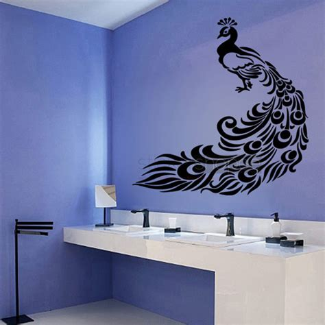 peacock wall stickers floral peacock wall decals