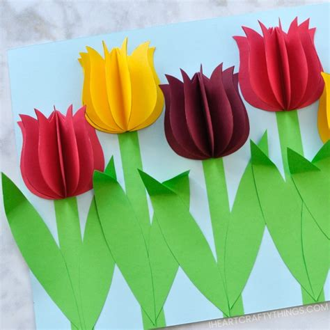 tulip template card gorgeous 3d paper tulip flower craft i crafty things