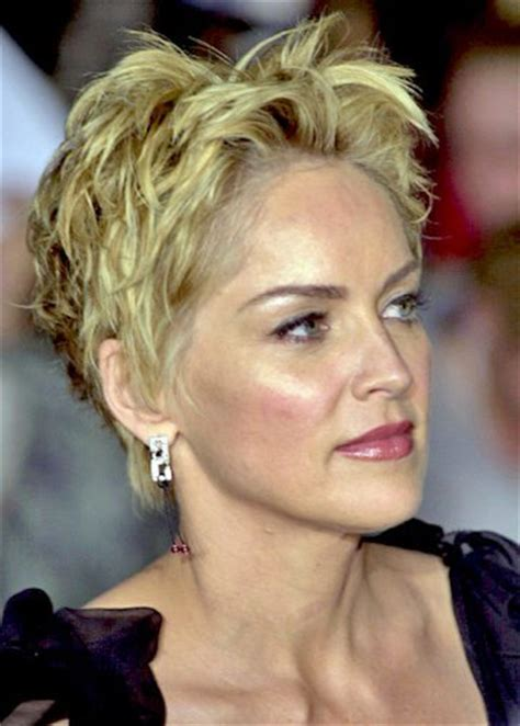 how to style sharon stones short hair style hairstyles for women over 40 pictures of haircut