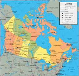 canada united states map map of the united states and canada border