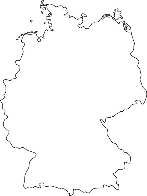 Country Outline by Germany Outline Map