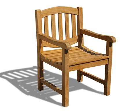 Garden Armchair by Ascot Oval Back Teak Garden Armchair