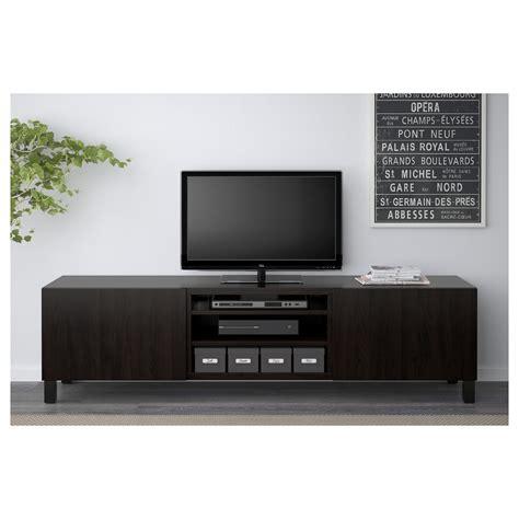 besta black brown best 197 tv bench with drawers lappviken black brown