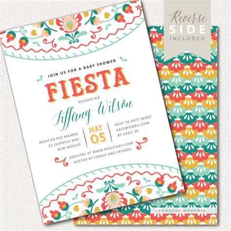 fiesta baby shower invitation mexican fiesta invite