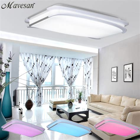 Cool Living Room Ceiling Lights Aliexpress Buy 2016 New Modern Rgb Ceiling Light Rgb