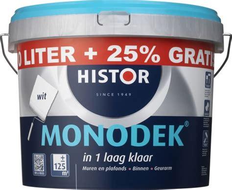 histor 6400 mat bol histor monodek muurverf 12 5 liter wit