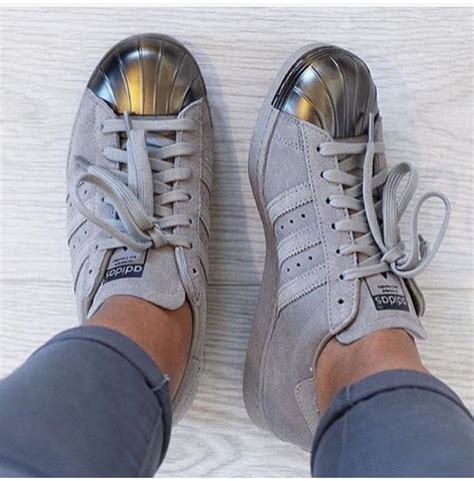 shoes adidas superstar grey silver adidas superstars adidas shoes metallic shoes