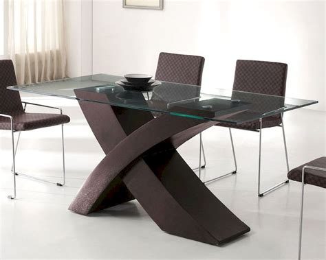 Modern Glass Dining Table by Modern Glass Top Dining Table In Wenge Finish European