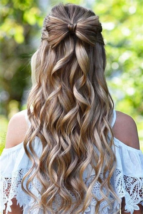 Half Up Half Homecoming Hairstyles by 40 Prom Hairstyles For Hair Half Up Half