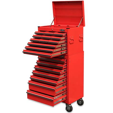 maxim  drawer combo red top tool chest roll