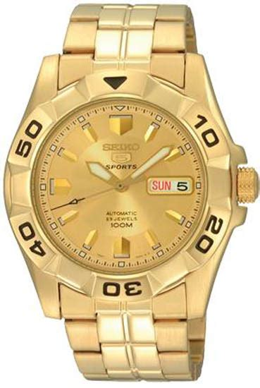 Seiko 5 Snkn56k1 Automatic Silver Gold Bezel Stainless Steel Brac seiko snzh94 mens gold tone stainless steel seiko 5 sports automatic gold tone
