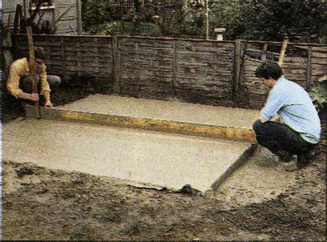 How To Build A Shed On A Concrete Slab bobbs building a shed concrete base