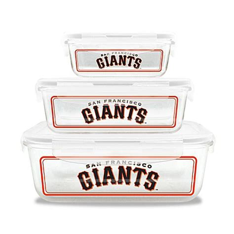 sf giants bathroom set mlb san francisco giants 6 piece glass food container set