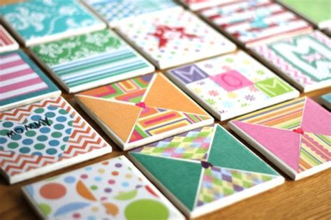 diy tile coasters make something mondays kid made tile coasters for mother s day life your way