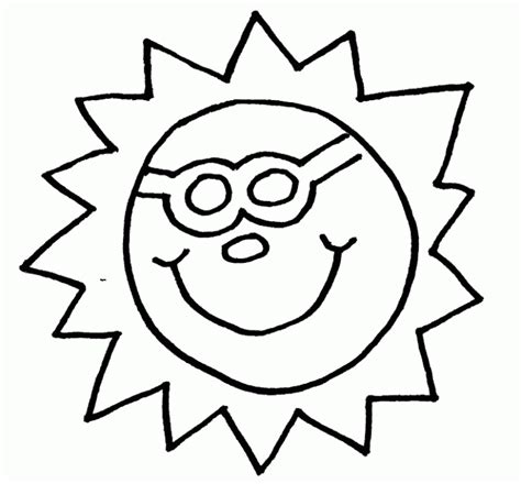 cute sun coloring page sun template for kids cute coloring