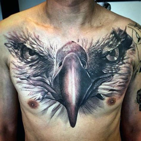 tattoo 3d eagle collection of 25 3d tattoos on chest for boys