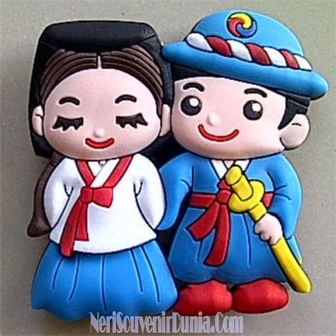 Gantungan Kunci Korea Rubber Souvenir jual souvenir magnet kulkas pasangan korea b