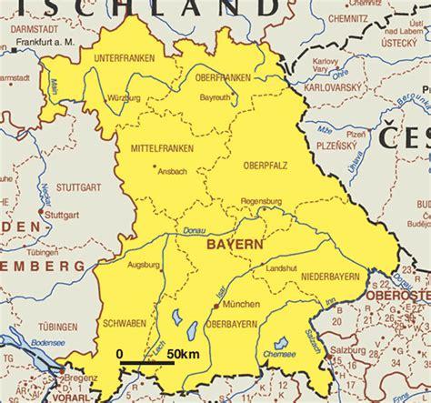 bavaria germany map map of bavaria bayern worldofmaps net maps