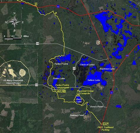 florida trail map ocala national forest farles prairie