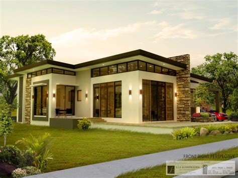 modern house design bungalow type modern house home plans philippines bungalow house plans philippines