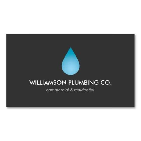 Drop Your Business Card Template by Water Drop Plumbing Plumbers Business Card Business