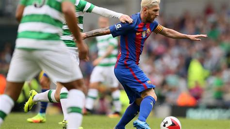 barcelona vs celtic messi quiet but barcelona stroll past celtic sport the