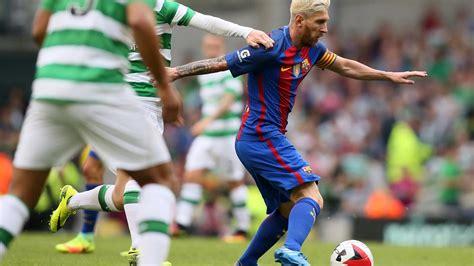 barcelona vs celtic messi quiet but barcelona stroll past celtic sport the