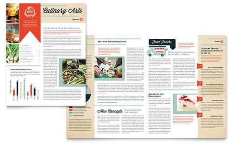 newsletter design template culinary school newsletter template design