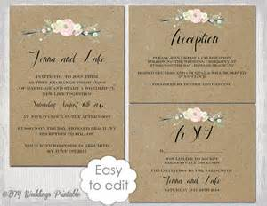 free wedding invitation suite templates rustic wedding invitation templates diy quot rustic flowers