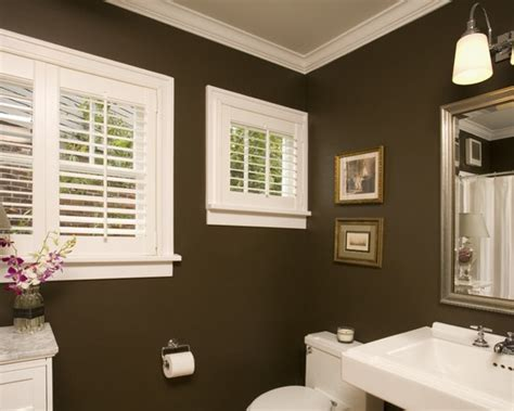 bathroom dark brown walls design pictures remodel decor