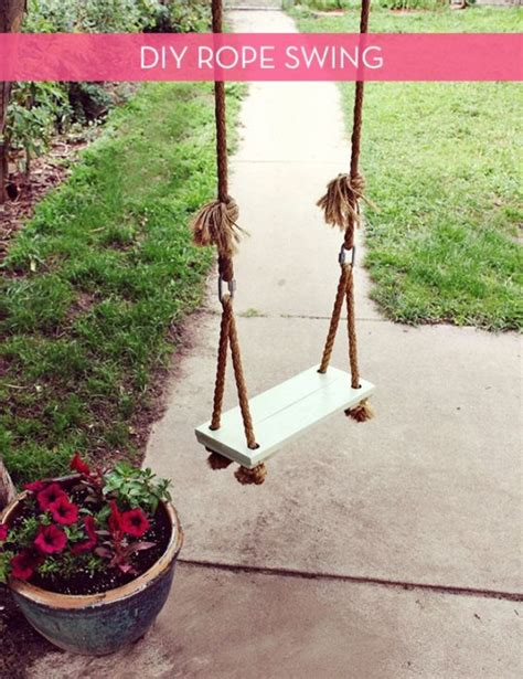 large rope swing 40 diy backyard ideas on a small budget