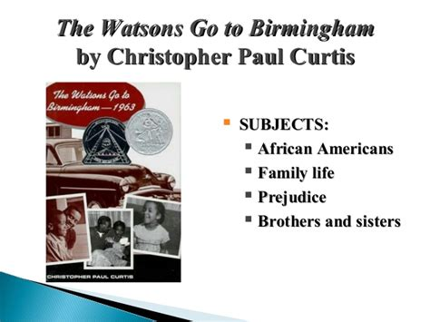 the watsons go to birmingham book report realistic fiction genre
