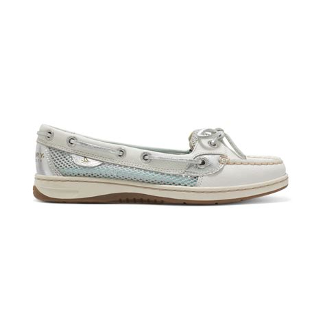 sperry top sider womens angelfish boat shoes in white lyst