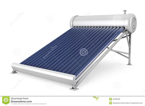 Water Heater Solar Panel solar water heater panels stock illustration image of construction 44996036