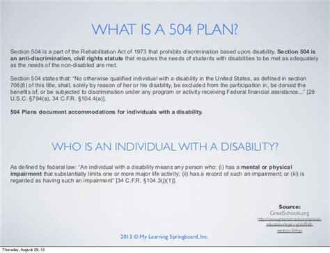 section 504 eligibility criteria advocating articulating and adapting more effectively