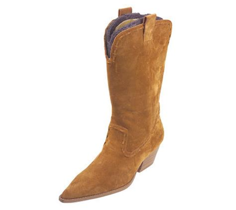 michael michael kors suede western cowboy boots page 1