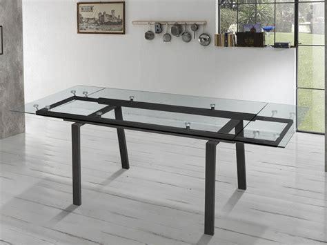 tavolo allungabile vetro tavolo allungabile in vetro e metallo chatter