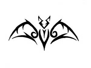 new bold outline bat tattoo design