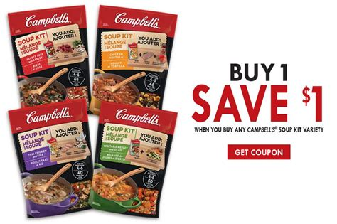 grocery coupons edmonton printable canadian coupons save 1 on cbell s soup kits