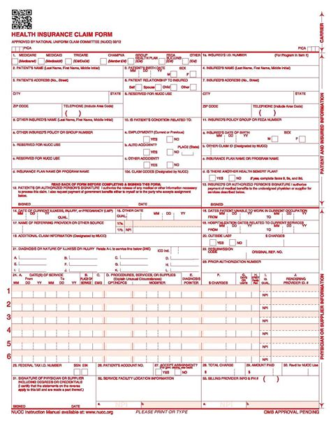 cms 1500 template cms hcfa 1500 claim form pictures to pin on