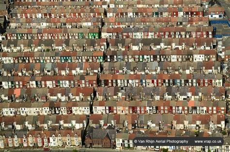 liverpool house aerial photograph terrace houses everton liverpool van rhijn aerial photography
