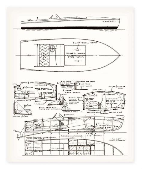 yacht layout template classic speed boat plans my boat plans