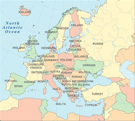 map of europe and surrounding countries map of finland and surrounding countries